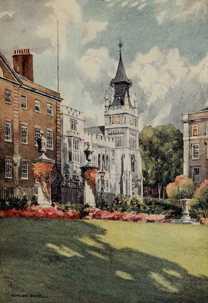 The Inns of Court Painted and Described - Hall and Library, Inner Temple (1909)