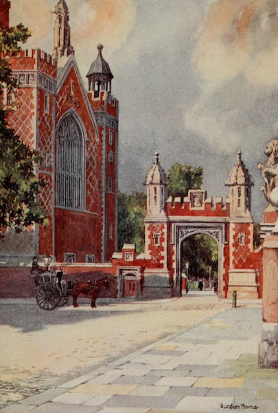 The Inns of Court Painted and Described - The New Gateway and Hall of Lincoln's Inn (1909)