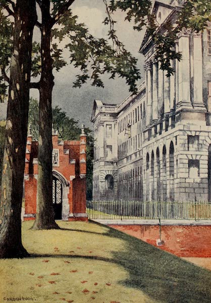 The Inns of Court Painted and Described - Stone Buildings, Lincoln's Inn, from the Gardens (1909)