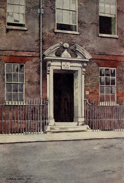 The Inns of Court Painted and Described - A Doorway in South Square, Gray's Inn (1909)