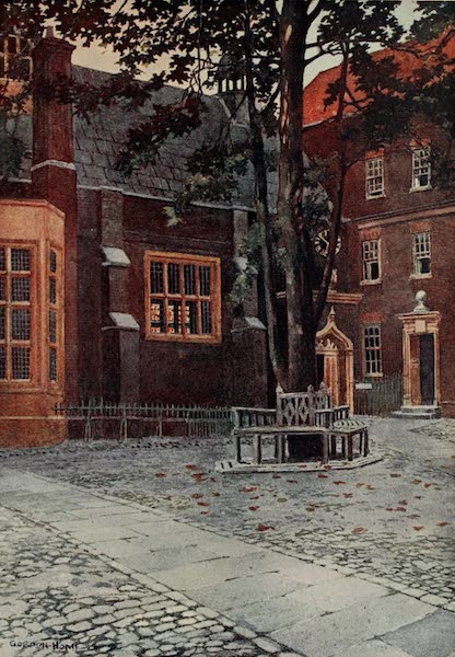 The Inns of Court Painted and Described - Staple Inn Hall and Courtyard (1909)