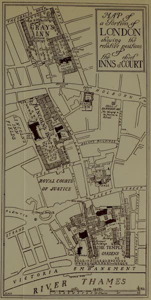 The Inns of Court Painted and Described - Sketch-plan of the Inns of Court (1909)