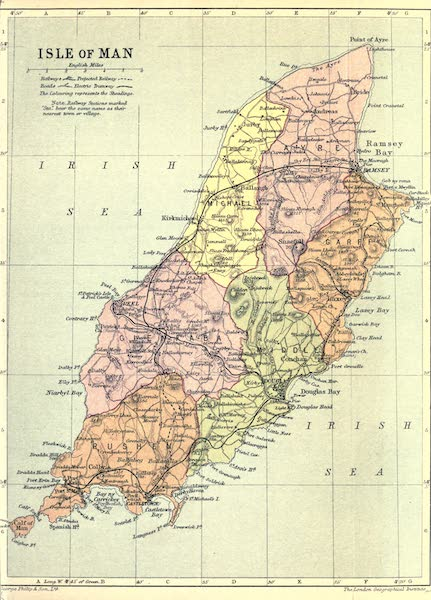 The Isle of Man - Map of the Isle Of Man (1909)