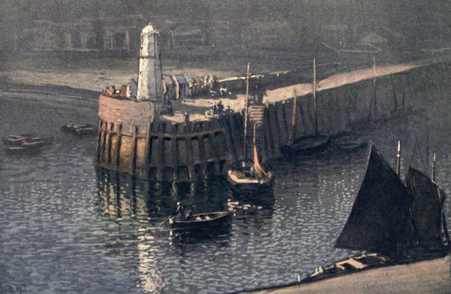 The Isle of Man - The Quay, from The Castle, Peel (1909)