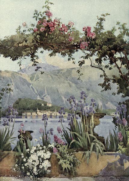 The Italian Lakes, Painted and Described - A Garden at Cadenabbia, Lago di Como (1912)