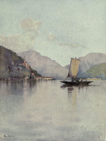 The Italian Lakes, Painted and Described - Morcote, Lago di Lugano (1912)