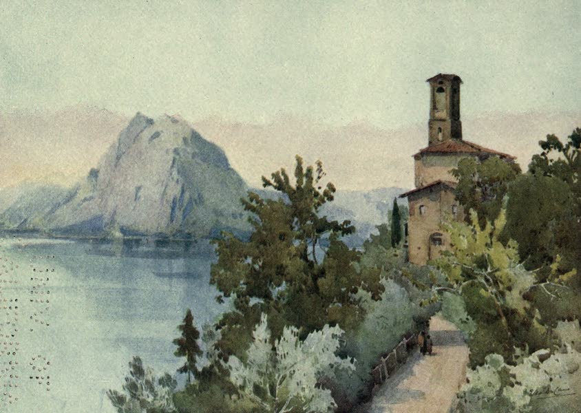 The Italian Lakes, Painted and Described - Monte San Salvatore, Lago di Lugano (1912)