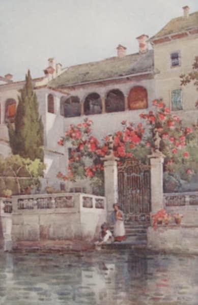 The Italian Lakes, Painted and Described - A Villa Garden, Lago d'Orta (1912)