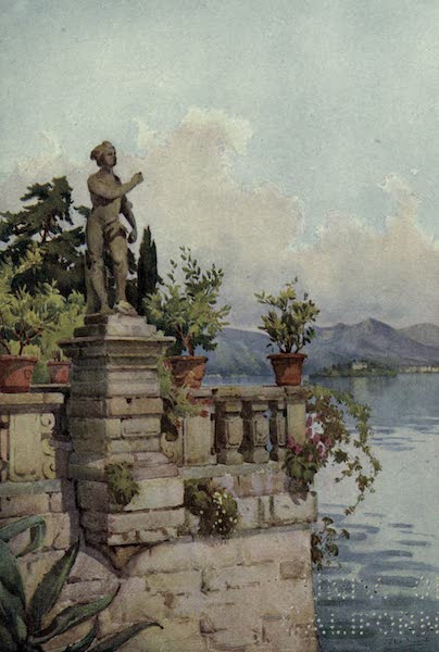 The Italian Lakes, Painted and Described - Terrace, Isola Bella, Lago Maggiore (1912)