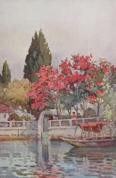 The Italian Lakes, Painted and Described - A Garden by the Lake, Lago d'Orta (1912)