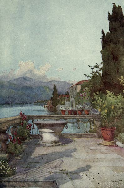 The Italian Lakes, Painted and Described - A Garden at Orta (1912)