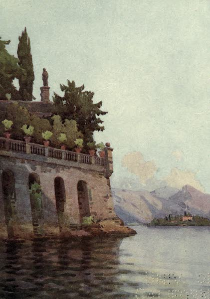 The Italian Lakes, Painted and Described - A Terrace Wall, Lago Maggiore (1912)