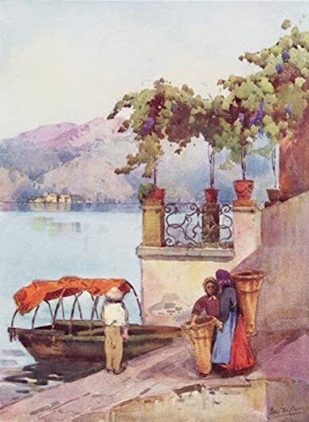 The Italian Lakes, Painted and Described - Leaving the Market (1912)