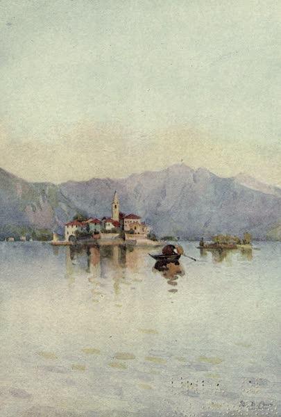 The Italian Lakes, Painted and Described - Isola Pescatori and the Sasso di Ferro, Lago Maggiore (1912)