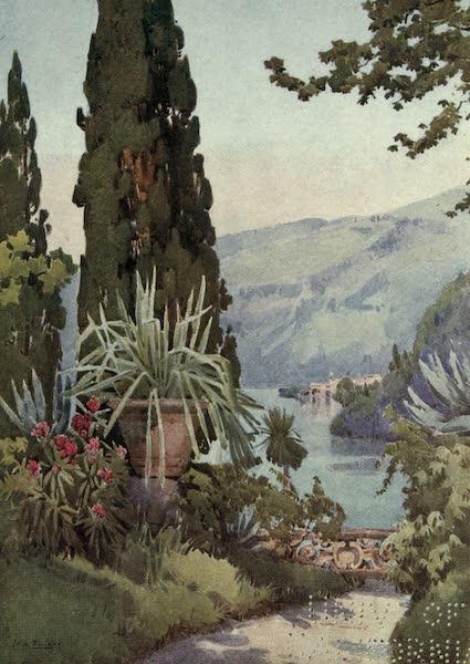 The Italian Lakes, Painted and Described - In the Garden of the Villa Arconati, Lago di Como (1912)