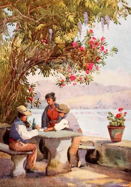 The Italian Lakes, Painted and Described - A Restaurant (1912)