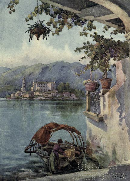 The Italian Lakes, Painted and Described - An Archway at Orta (1912)
