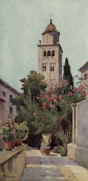 The Italian Lakes, Painted and Described - The Campanile of San Giulio, Lago d'Orta (1912)
