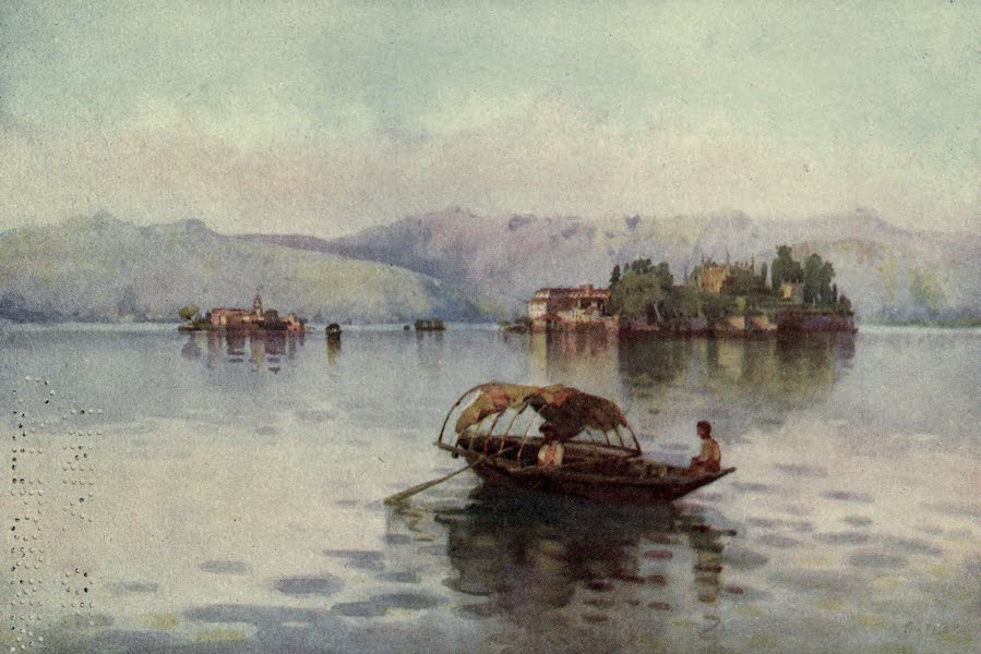 The Italian Lakes, Painted and Described - A Summer Evening, Lago Maggiore (1912)