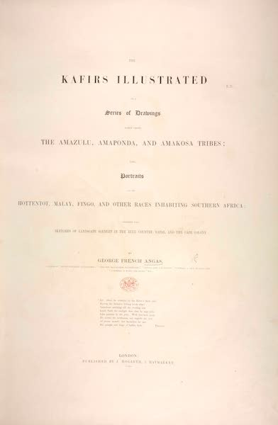 The Kafirs Illustrated in a Series of Drawings - Title Page (1849)