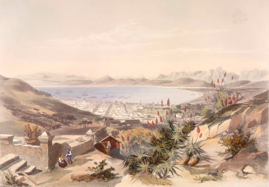The Kafirs Illustrated in a Series of Drawings - Cape Town from the Camps Bay Road (1849)