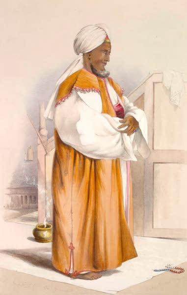 The Kafirs Illustrated in a Series of Drawings - Hadji Hassan Nudin Ibanu Abdallah or Karel (A Malay Priest at Prayers) (1849)