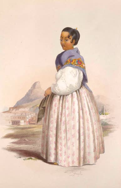 The Kafirs Illustrated in a Series of Drawings - Nazea, a Malay Woman (1849)