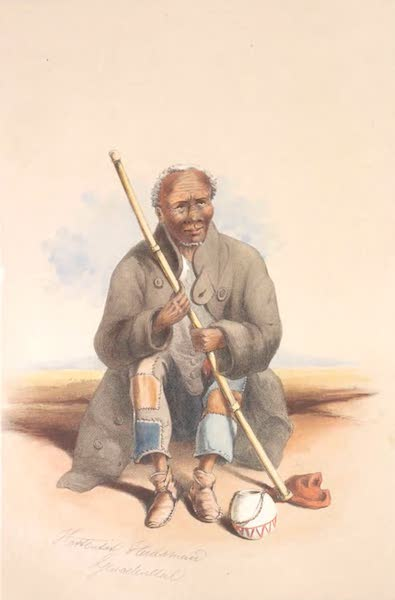 The Kafirs Illustrated in a Series of Drawings - Leveregt Aris, an old Hottentot (1849)