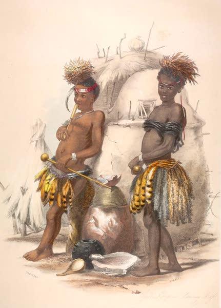 The Kafirs Illustrated in a Series of Drawings - Dabiyaki and Upapazi, Amazulu Boys in Dancing Dress (1849)