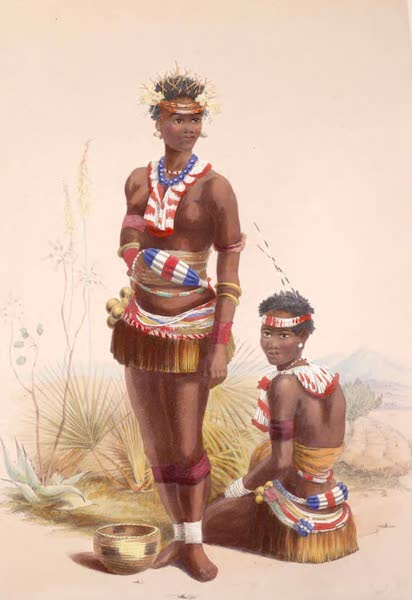 The Kafirs Illustrated in a Series of Drawings - Two of King Panda's Dancing Girls (1849)