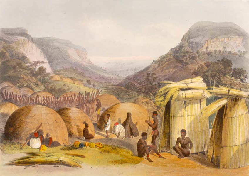 The Kafirs Illustrated in a Series of Drawings - Inanda Kraal, Natal (1849)