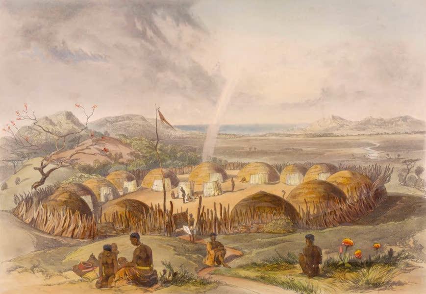 The Kafirs Illustrated in a Series of Drawings - Kafir Kraal near the Umlazi River, Natal (1849)