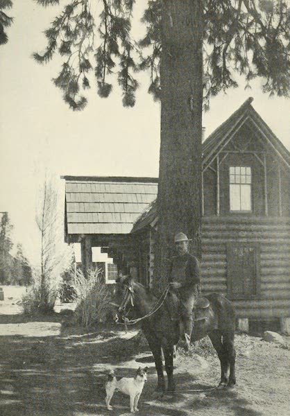 The Lake of the Sky, Lake Tahoe - Bob Watson, Tahoe guide, at home, with his dog Skookum John (1915)