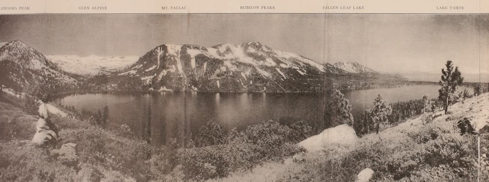 The Lake of the Sky, Lake Tahoe - Panorama from South End Fallen Leaf Lake (1915)