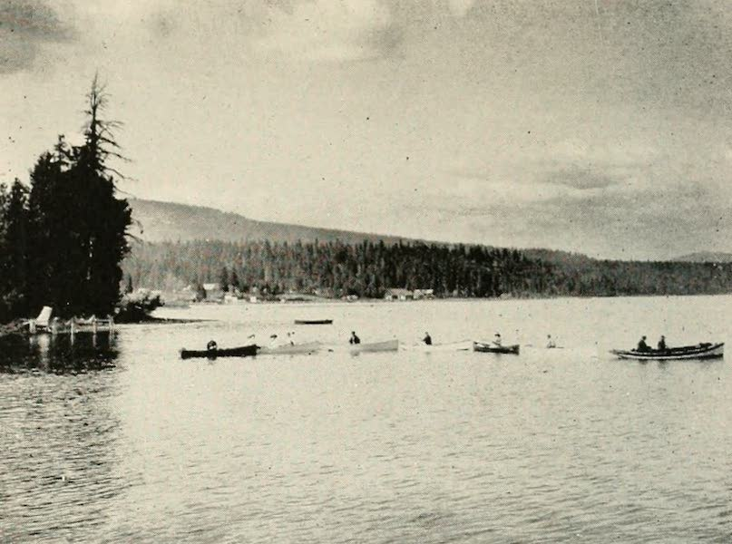 The Lake of the Sky, Lake Tahoe - Launch towing boats out to the fishing grounds, Lake Tahoe (1915)