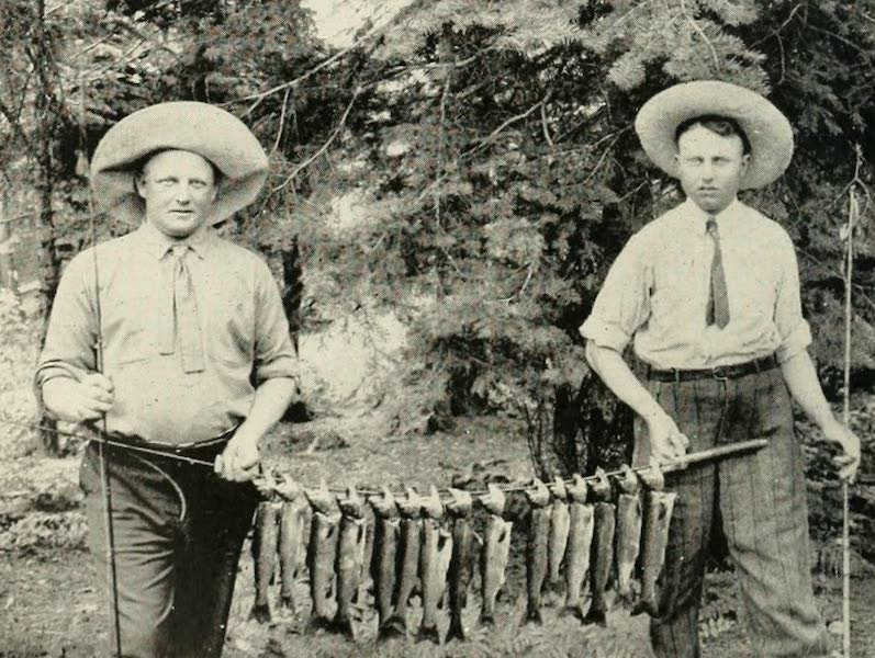 The Lake of the Sky, Lake Tahoe - An Early Morning Catch, Tahoe Trout, Lake Tahoe (1915)