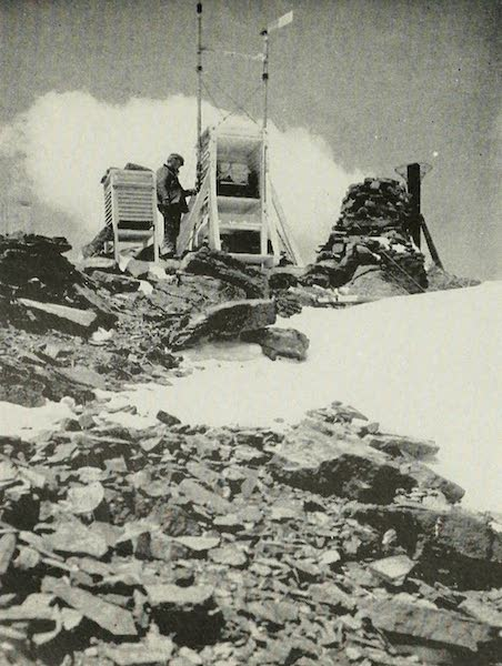 The Lake of the Sky, Lake Tahoe - Professor Fergusson at the Fergusson Meteorograph at Mt. Rose Observatory. 10,090 Feet (1915)