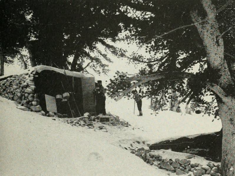 The Lake of the Sky, Lake Tahoe - Refuge Hut and Headquarters for Snow Studies on Mt. Rose, 9000 Feet (1915)