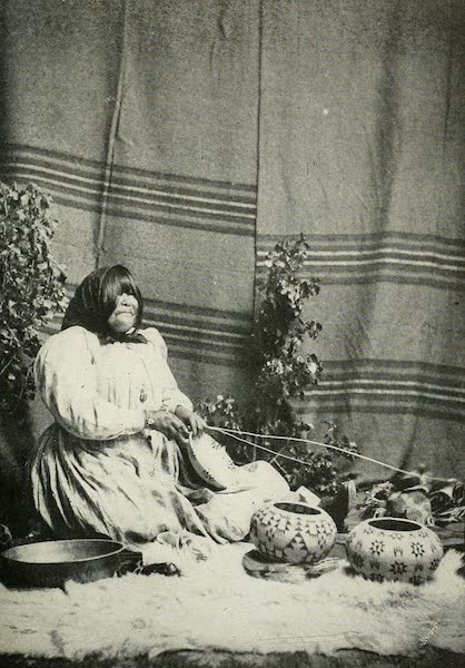The Lake of the Sky, Lake Tahoe - Dat-so-la-le, the artistic Washoe basket maker (1915)