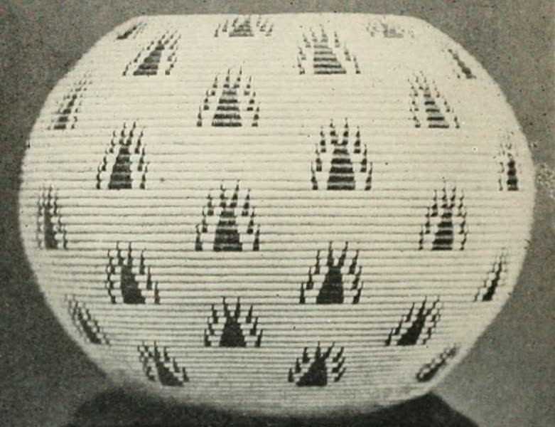 The Lake of the Sky, Lake Tahoe - Washoe baskets made by Dat-so-la-le, 'Happy Homes' design (1915)