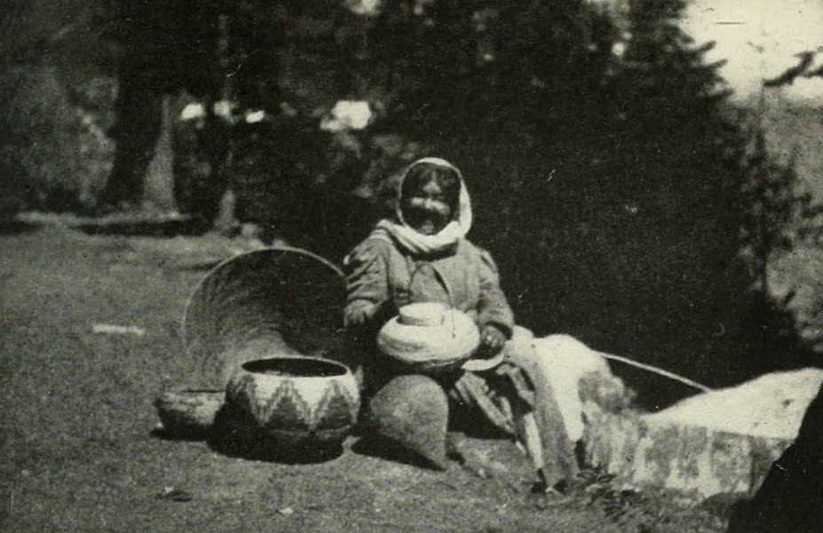 The Lake of the Sky, Lake Tahoe - Susie, the Washoe indian basket maker, and narrator of indian legends (1915)