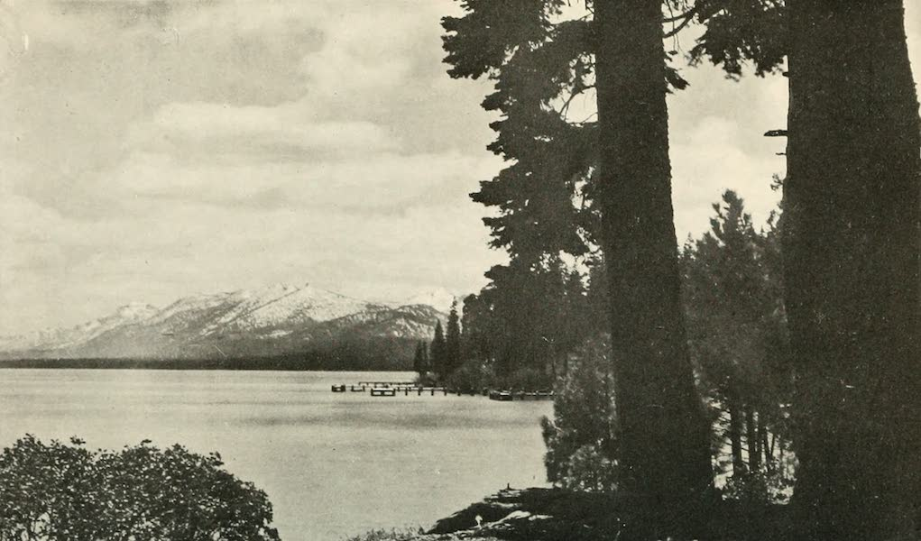 The Lake of the Sky, Lake Tahoe - Lake Tahoe near Tahoe Tavern, looking south (1915)
