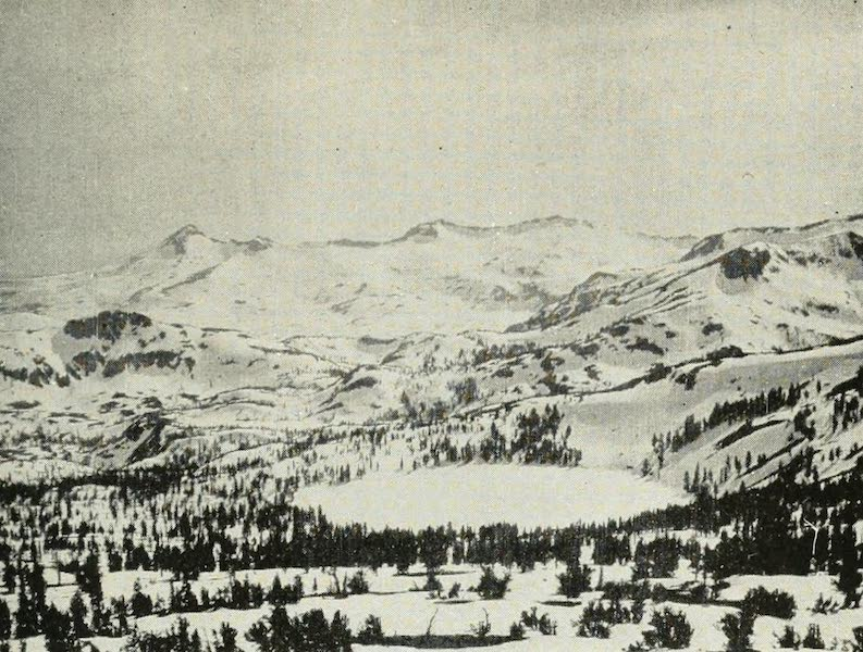 The Lake of the Sky, Lake Tahoe - Gilmore Lake, Pyramid Peak and the Crystal Range, in winter, from summit of Mount Tallac (1915)