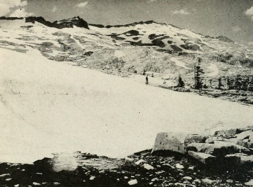 The Lake of the Sky, Lake Tahoe - Snow Bank, Desolation Valley, near Lake Tahoe (1915)
