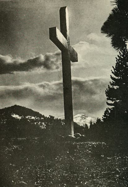 The Lake of the Sky, Lake Tahoe - Memorial Cross at Donner Lake (1915)