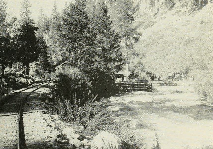 The Lake of the Sky, Lake Tahoe - Crossing the Truckee River Near Deer Park Station (1915)