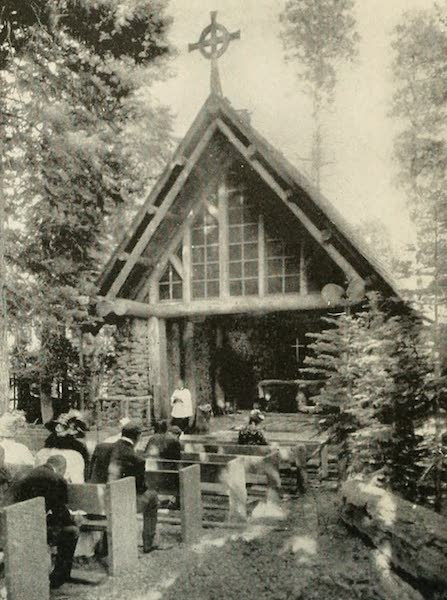The Lake of the Sky, Lake Tahoe - Morning Service at the Chapel of the Transfiguration, Tahoe Tavern (1915)