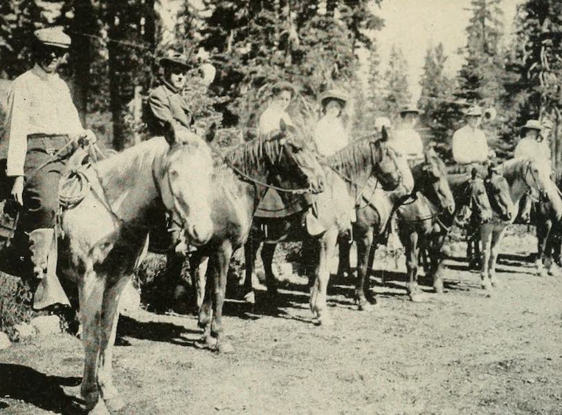 The Lake of the Sky, Lake Tahoe - A Trail Party About to Leave Tahoe Tavern (1915)