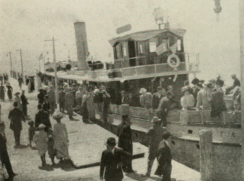 The Lake of the Sky, Lake Tahoe - The Steamer Tahoe, at the Wharf, just before starting around the Lake (1915)