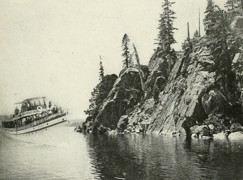 The Lake of the Sky, Lake Tahoe - Steamer Tahoe Rounding Rubicon Point, Lake Tahoe (1915)